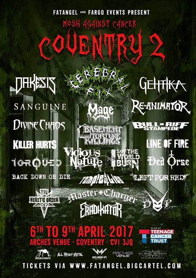 Mosh against Cancer Coventry poster 1